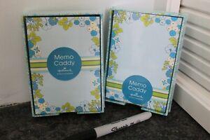 2 Hallmark Memo Caddy Stationery Tray w/ Notes
