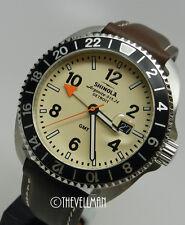 Men American US Detroit Made Swiss Parts Shinola Rambler GMT 44mm Watch