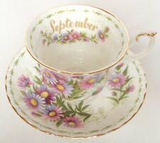 Royal Albert septiembre Taza y Platillo flor del mes serie