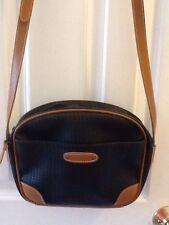 VTG 80s ESPRIT Dk blue Brown Tiny Small Shoulder Bag Cross Body Purse zip top