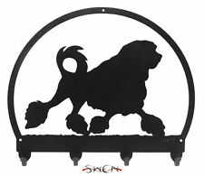 Swen Products Lowchen Dog Black Metal Key Chain Holder Hanger