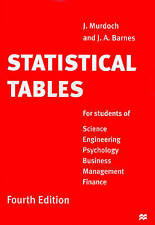 Statistical Tables by J. Murdoch, J. A. Barnes