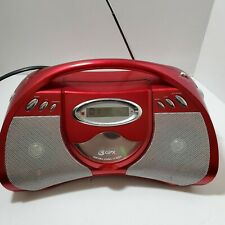 GPX Red CD AM/FM Boombox Model: BCD2306DP Tested/Works Good Pre-owned Condition