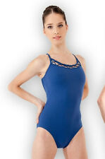 NWT Dance Bloch Dark Blue Camisole Leotard Rouleaux Front Ladies Sm Adult L5957
