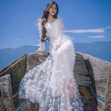 Lady Lolita Flower Dress Mori Elegant Fairy Princess Beach Holiday Vintage Skirt