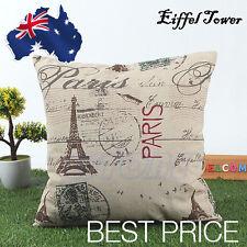 Classic Home Decor Eiffel Vintage Cotton Linen Cushion Cover Pillow Case 45cm