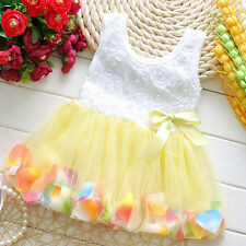 niño niña infantil Princesa Tul Vestido Con Tutú Fiesta Casual Graduación