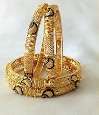 Indian Traditional ethnic Bollywood Gold Plated Bangles Set of 4 size 2.4