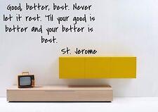 Vinyl Wall Decal Sticker Room Decor Custom Quotes Motivational St.Jerome F1499
