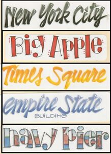 SCRAPBOOK TITLES  TRAVEL VACATION NEW YORK CITY BIG APPLE  NAVY PIER YOU CHOOSE