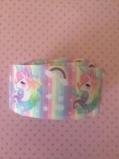 "Unicorn Printed Grosgrain Ribbon. 1.5"" (38mm)  Perfect Bows/Crafts"