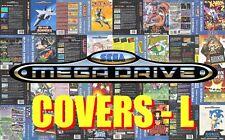 Sega Mega Drive Remplacement Box Art Case Insert Cover - Letter L - High Quality