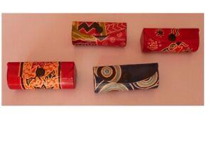 Lippenstift-Etui, Lippenstiftbox, aus Leder mit Spiegel, fair trade, 4 Varianten