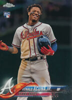 Ronald Acuna Jr. 2018 Topps Chrome Update Rookie Card RC #HMT25 Atlanta Braves