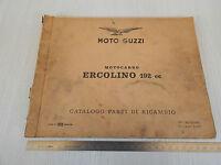 MANUALE ORIGINALE CATALOGO PARTI DI RICAMBIO 1963 MOTO GUZZI ERCOLINO 192 cc
