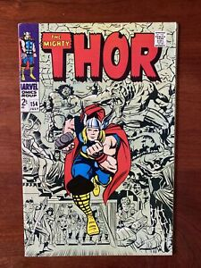 Thor #154 (1968) VF+ 8.5  1st Appearance Mangog 🔥HIGH GRADE🔥