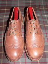 Massimo Dutti Brown Wingtip Full Brogue Oxford/Dress Shoes, Portugal, Sz 40EU/ 7