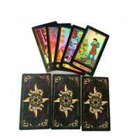 Holographic Glowing Shining Tarrot Tarot Future Telling Trick Deck Of 78 Cards.