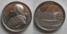 Vaticano medaglia argento papa Pio IX anno XXII 1867 piazza del Quirinale