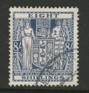 New Zealand 1931-40 8/- Slate-violet SG F153 Fine used.