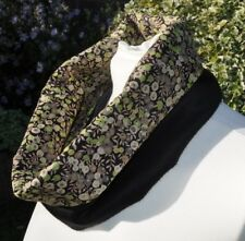 Cowl/Snood in Liberty tana lawn Wiltshire green and black cashmere