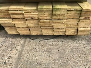 PACK OF TEN 3.60M X 100 x 22 mm SAWN AND TANALISED SOFTWOOD