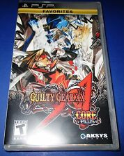 Guilty Gear XX Accent Core Plus Sony PSP - Factory Sealed!! Free Shipping!!