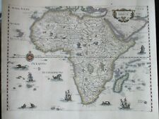 Antique map of Africa, 1646, Merian