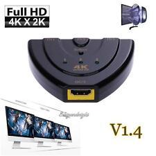 4K*2K 3D MINI 3 porte HDMI Switch Splitter HDMI Switcher 1.4b per PS3 PS4 HDTV DVD