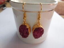 Gold Edge Druzy Chandelier Earrings,Sugar Druzy Agate Earring, Fashion Jewelry,