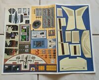 Star Wars Naboo Royal Starship Sticker Sheet and instructions Free Postage