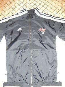 Adidas Size Medium Tampa Bay Buccaneer Black Lightweight Jacket
