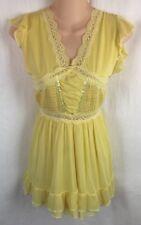 Ocktoberfest Dirndl Dress Inspired Lingerie Yellow Nightgown Fits S Small  Strch
