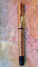 Waterman 0552 GOTHIC GOLD FILLED OVERLAY FOUNTAIN PEN SMOOTH F FLEX NIB !!