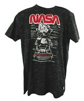 New Men's Southpole NASA Short Sleeve T Shirt Size L Gray Astronaut Space w Tag
