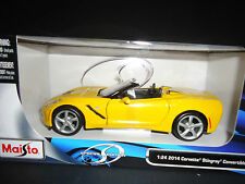 Maisto Chevrolet Corvette C7 Stingray Convertible 2014 Yellow 1/24