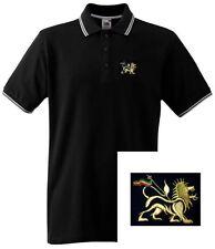 Lion of Judah Polo Shirt with Embroidered Motif - Rasta Shirts