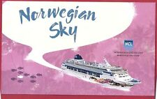 ms Norwegian Sky.cruise ship .Ncl . large promo Pc w/ships official stamp.