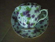 Vintage Vimax Purple Violet Chintz Cup and Saucer Translucent Md in Japan