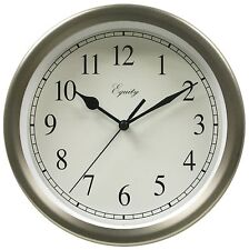 "28283 Equity by La Crosse 8"" Metal Analog Wall Clock"