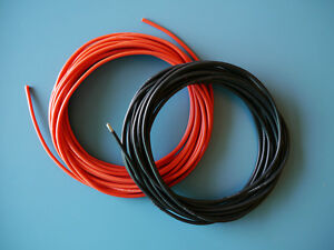 One Pair of 13 AWG / 13 Gauge Silicone Wires Silicon Cables (1m Red + 1m Black)