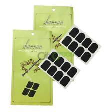 16Pcs Xinzhong 0.3mm Black Clarinet/Soprano Sax Mouthpiece Patches Pads Cushions
