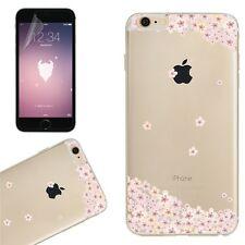 Floral Print Transparent Clear Soft TPU Phone Case For iPhone 7 6 6s Plus 5s SE