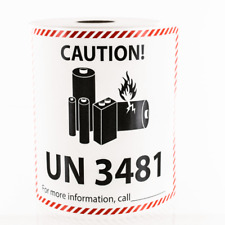 Lithium Ion Battery Shipping UN 3481 Large Sticker Label 2019 - Pick Qty needed