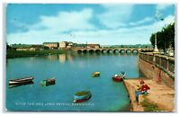 Postcard River Taw and Long Bridge Barnstaple Devon