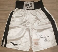 "THOMAS ""HitMan"" HEARNS Autographed  Signed Auto Boxing Trunks JSA COA"