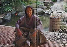 Coupure de presse Clipping 1999 Kenzo haute couture  (4 pages) prend sa retraite