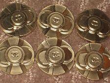 CHANEL  6  CC LOGO FRONT MATTE GOLD color  BUTTONS  26 MM BIG NEW  LOT 6