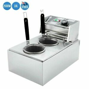 Commercial Bench Top 10L Electric Noodle Cooker Fast Pasta Cooker Steel AU 2500W