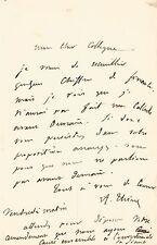 Adolphe THIERS / Lettre autographe signée / Dessin original